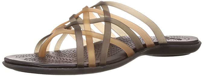 ab9dd81aa684 crocs Women s Huarache Bronze and Espresso Rubber Flip-Flops and House  Slippers - W4  Buy Online at Low Prices in India - Amazon.in