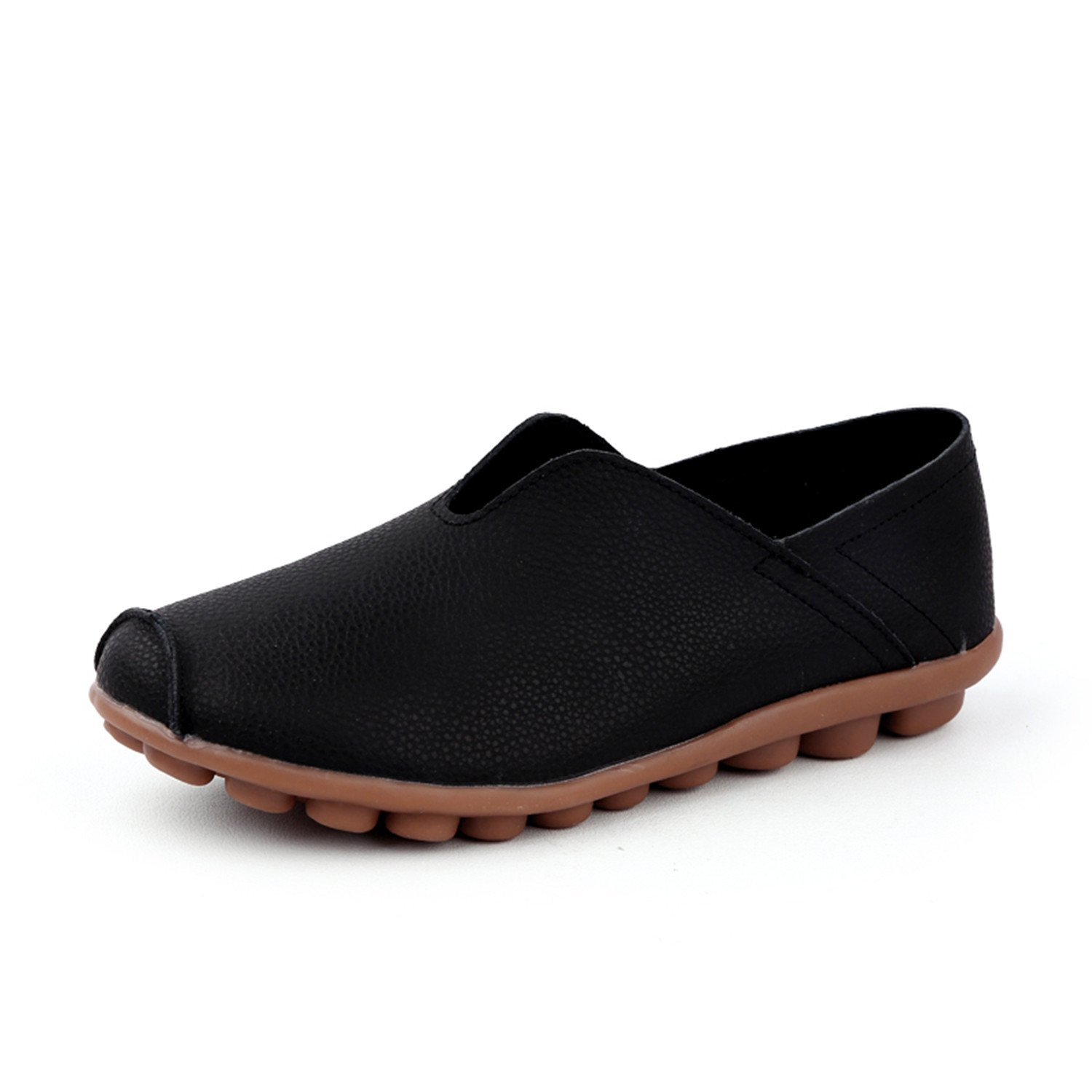 Amazon.com | Surprising Day Shoes Women New Women Shoes Moccasins Mother Loafers Soft Leisure Flats Female Driving Casual Fashion Footwear in 4 Colors Black ...
