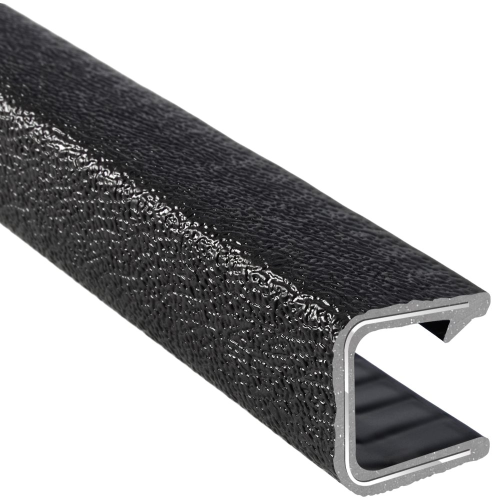 Trim-Lok Edge Trim - Flexible, PVC Plastic Edge Protector for Sharp and Rough Surfaces - Easy Install, Push-On Edge Guard for Cars, Boats, Machinery, and More - Fits 5/8'' Edge, 15/16'' Leg Length, Single Gripping Finger, 25' Length by Trim-lok