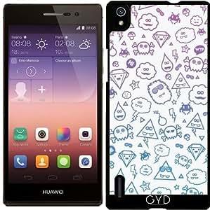 Funda para Huawei AscendP7 - Loco Y Lindo Golpeteo Monstruo by badbugs_art