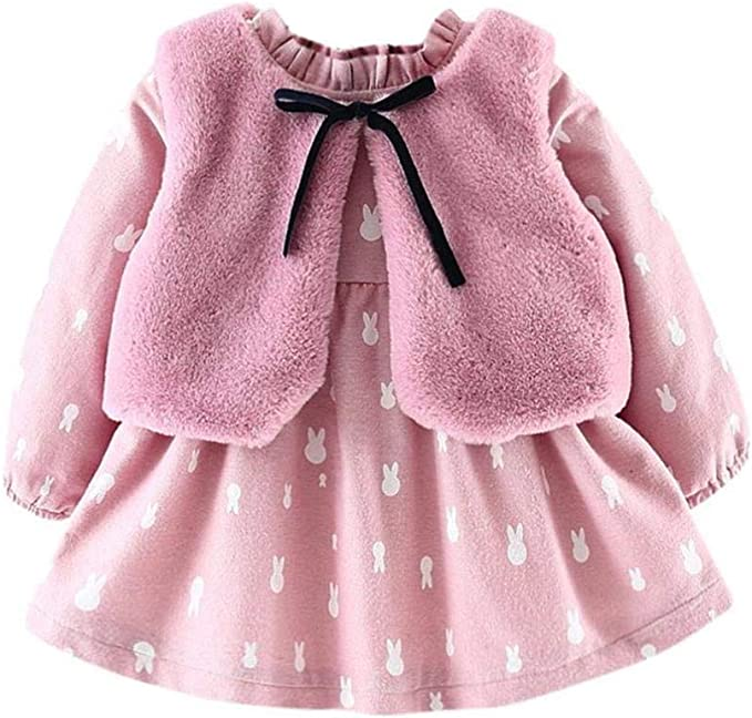 Vestidos de Bebé Niñas, Allskid Recién Nacido Infantil Manga Larga ...