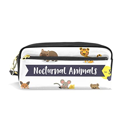 Ahomy Estuches para Niñas y Niños, Otter Spider Bat Mouse Tiger Fox Bolígrafo bolsa de papelería bolsa de maquillaje: Amazon.es: Oficina y papelería