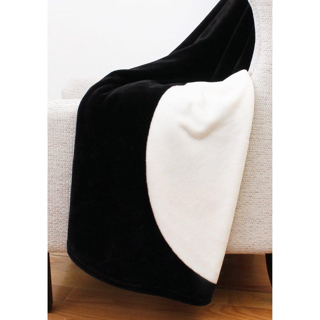 Thro by Marlo Lorenz Throw Blanket Black and White