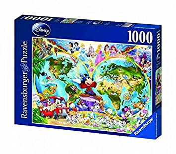 Ravensburger disney world map 1000pc jigsaw puzzle amazon ravensburger disney world map 1000pc jigsaw puzzle gumiabroncs Image collections