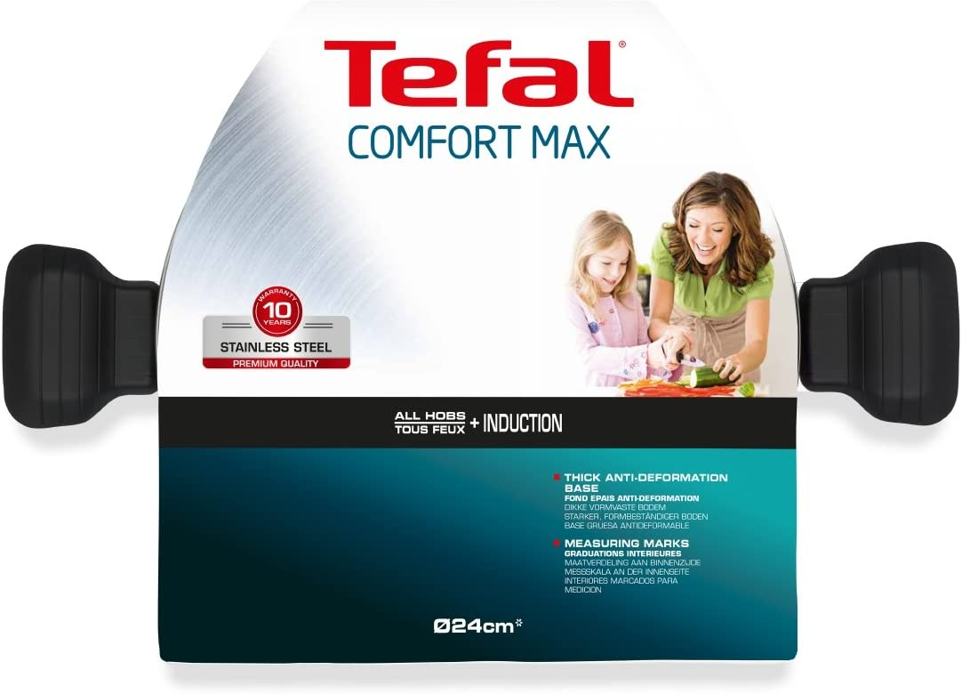 Tefal Comfort Max Stainless Steel Non-Stick Frying Pan Silver 20 cm