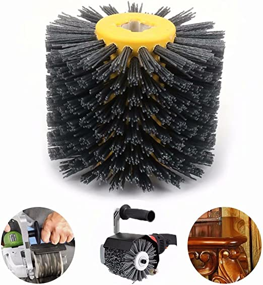 SIGNI New Abrasive Wire Drawing Wheel Drum Burnishing Polishing Brush for wooden