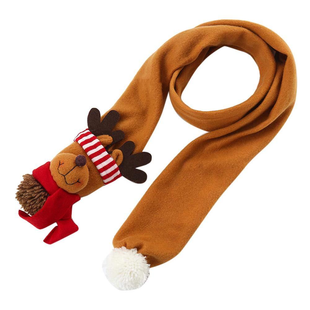É charpe d'hiver,Enjoyall é charpe de Noë l avec le vieil homme, bonhomme de neige, forme d'é lan pour le cadeau de Noë l pour des enfants d'enfants Enjoyall écharpe de Noël avec le vieil homme
