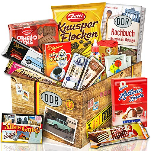 Süssigkeiten Box mit Waren DDR – Geschenke zum Geburtstag für Freund