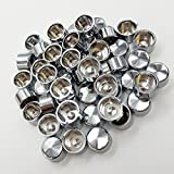 TJTECH 50pcs Chrome ABS Plastics Bolt Cap Cover Dress Kit for 1999-2008 Harley Touring Engine Trans Primary More