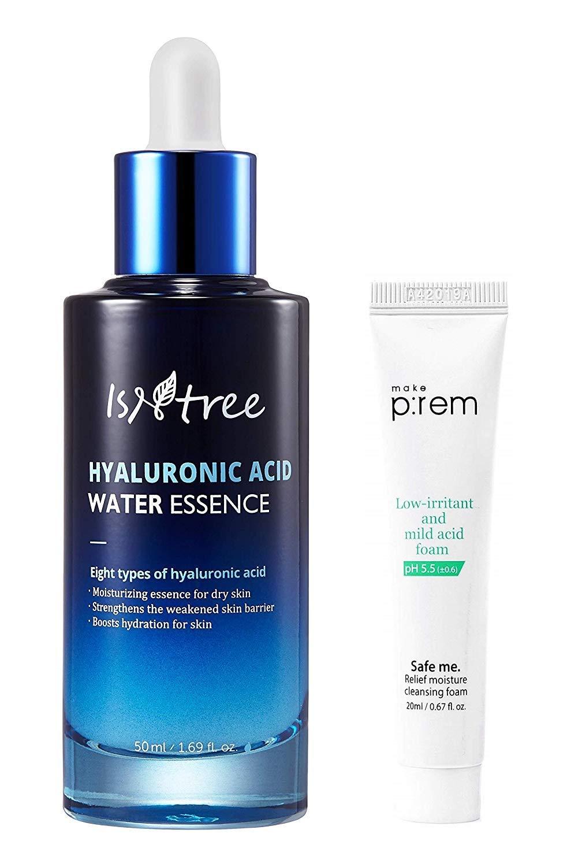 ISNTREE Hyaluronic Acid Korean Face Serum Water Essence 1.69 fl. oz. | Facial Serum for Dry, Acne, Sensitive Skin | Hydrating Scentless Essence Serum | Korean Skin Care