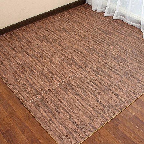 The Emulation flooring foam rollmat large stitching woodgrain Sponge Pad Home Child Foam Puzzle Mats ,30301.2 CM, light by TDLC (Image #2)