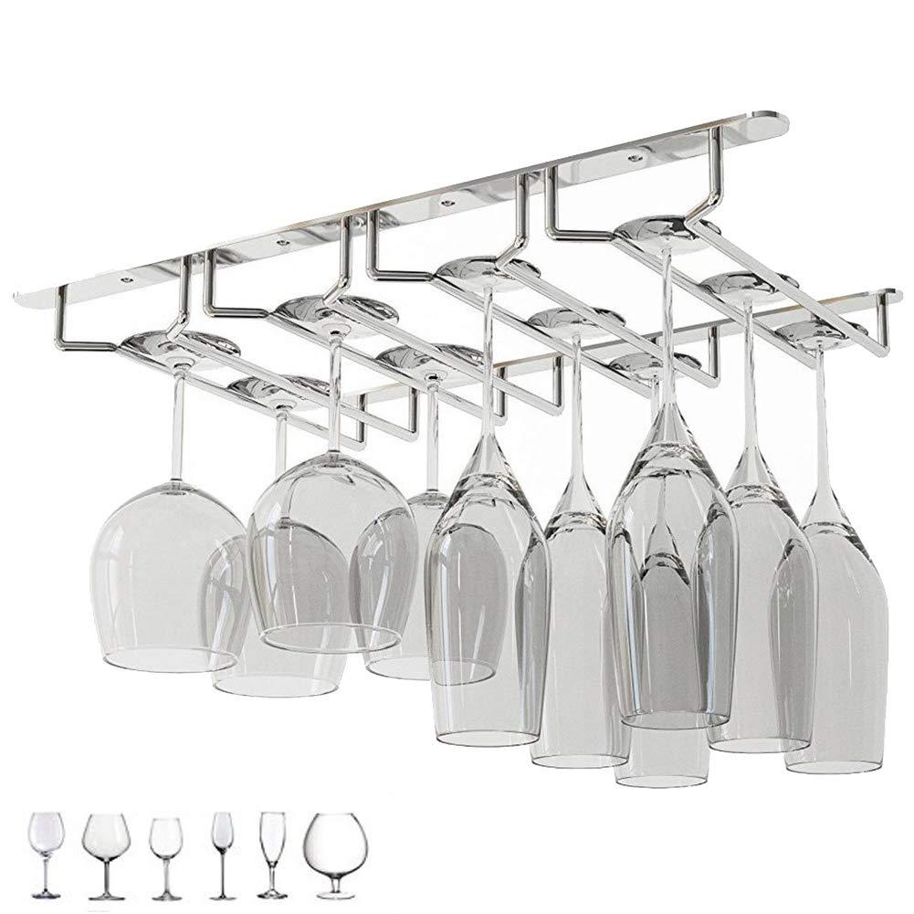 Angker Plated Glass Rack 4 Row Wine Glass Rack Champagne Glass