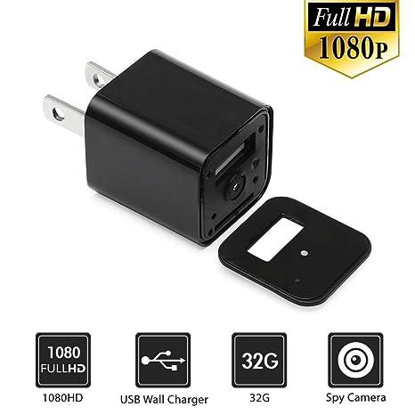 LeaningTech 1080P Cámara oculta cargador USB HD con la tarjeta de 32G