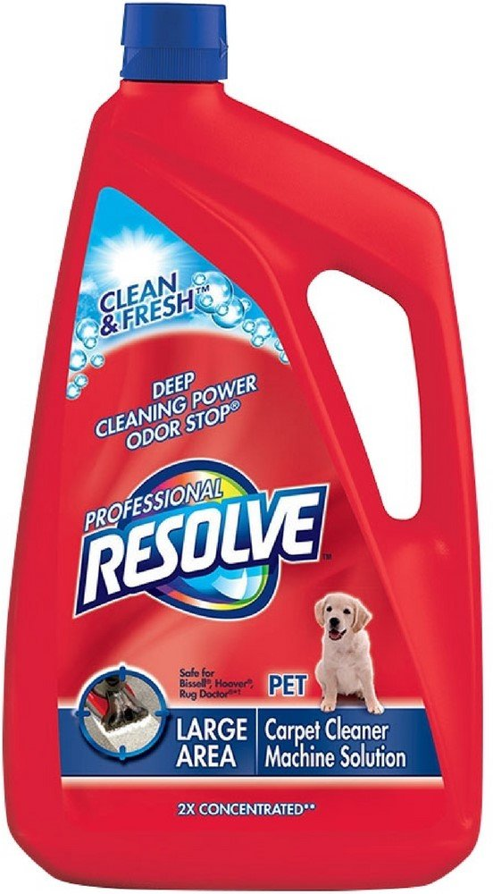 Resolve Professional Pet 2x Concentrated Carpet Cleaner Machine Solution 96 oz (5 Pack)