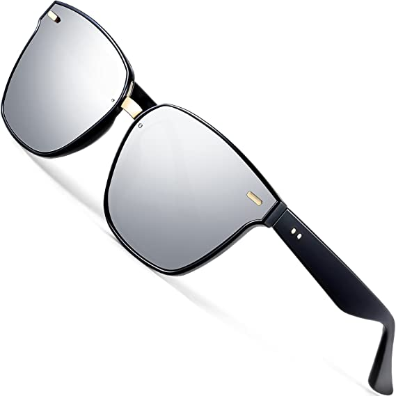 bd490188a8d ATTCL Unisex Sunglasses 100% Polarized UV Protection 555-silver  Amazon.in   Clothing   Accessories