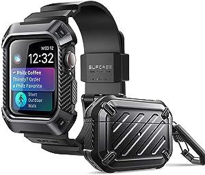 SUPCASE Unicorn Beetle Pro Bundle (Black) - AirPods Pro Case & Apple Watch 6/SE/5/4 44mm Case