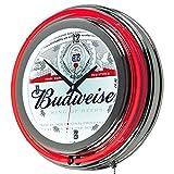 Trademark Gameroom Budweiser Chrome Double Rung Neon Clock