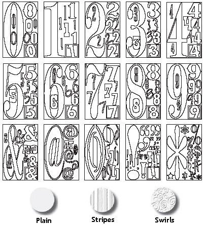 ADVANTUS CORPORATION Grungeboard Digits and Punctuation 16 Sheets/Package, Stripes