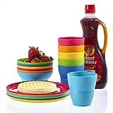 Ellie Kids Small Plastic Tumblers, Snack Bowls