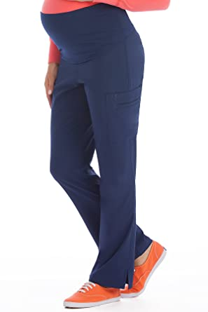 d2384c64fe9 Amazon.com: Med Couture Women's Knit Waist Maternity Scrub Pant: Clothing