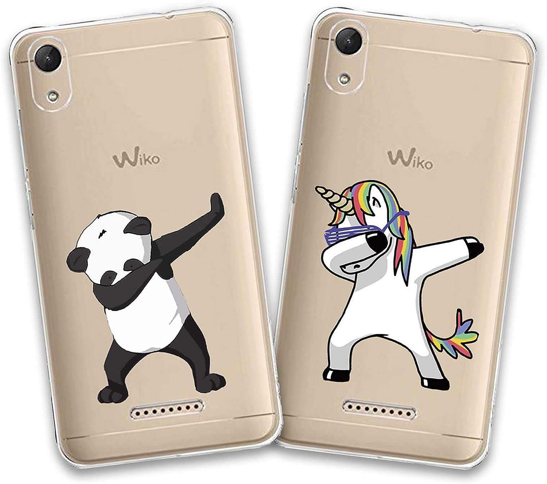jrester 2 X Funda Wiko Lenny 4 Plus,Unicornio Swag + Panda Swag ...
