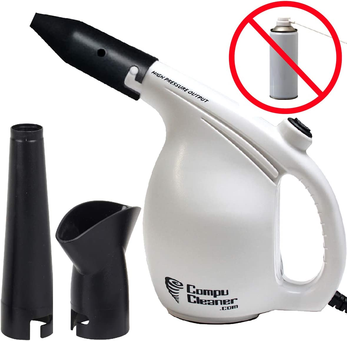 EasyGo Compucleaner 2.0 –Durable ABS Plastic Electric High Pressure Air Duster – Computer Cleaner Blower - Keyboard Cleaner – Electronic Devices and Laptop Cleaner - Replaces Compressed Air Cans