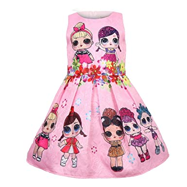Lol Surprise D0LL Kids Girls Tutu Dress Princess Dress Pageant Party Dress UK