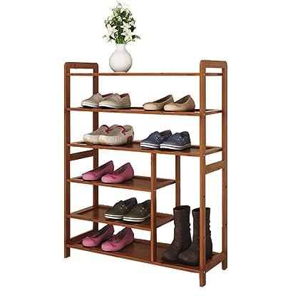 Wg Zapatero 6 Gradas Botas Zapato Estante Bambu Estante Plano