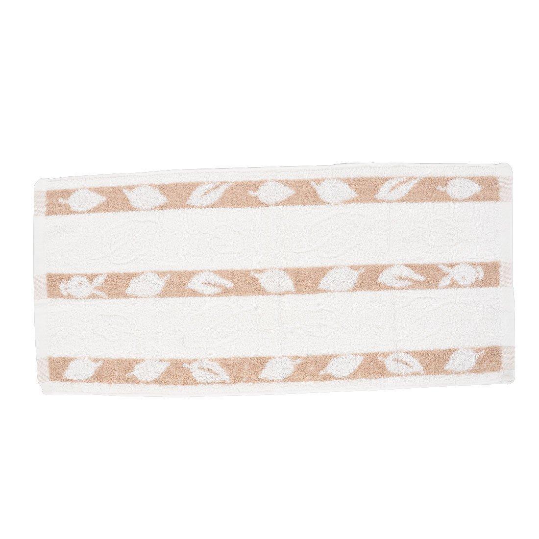Amazon.com: eDealMax Mezcla baño del algodón cara de la Mano de limpieza de toallas Terry Toallita Blanco Marrón: Home & Kitchen