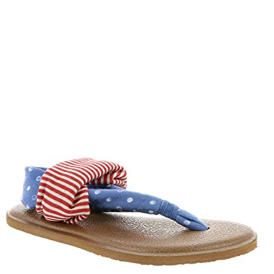 Sanuk Womens Yoga Sling Patriot Sandal Footwear