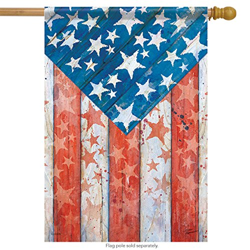 Carson Home Accents Trends Classic Large Flag, Rustic Pride