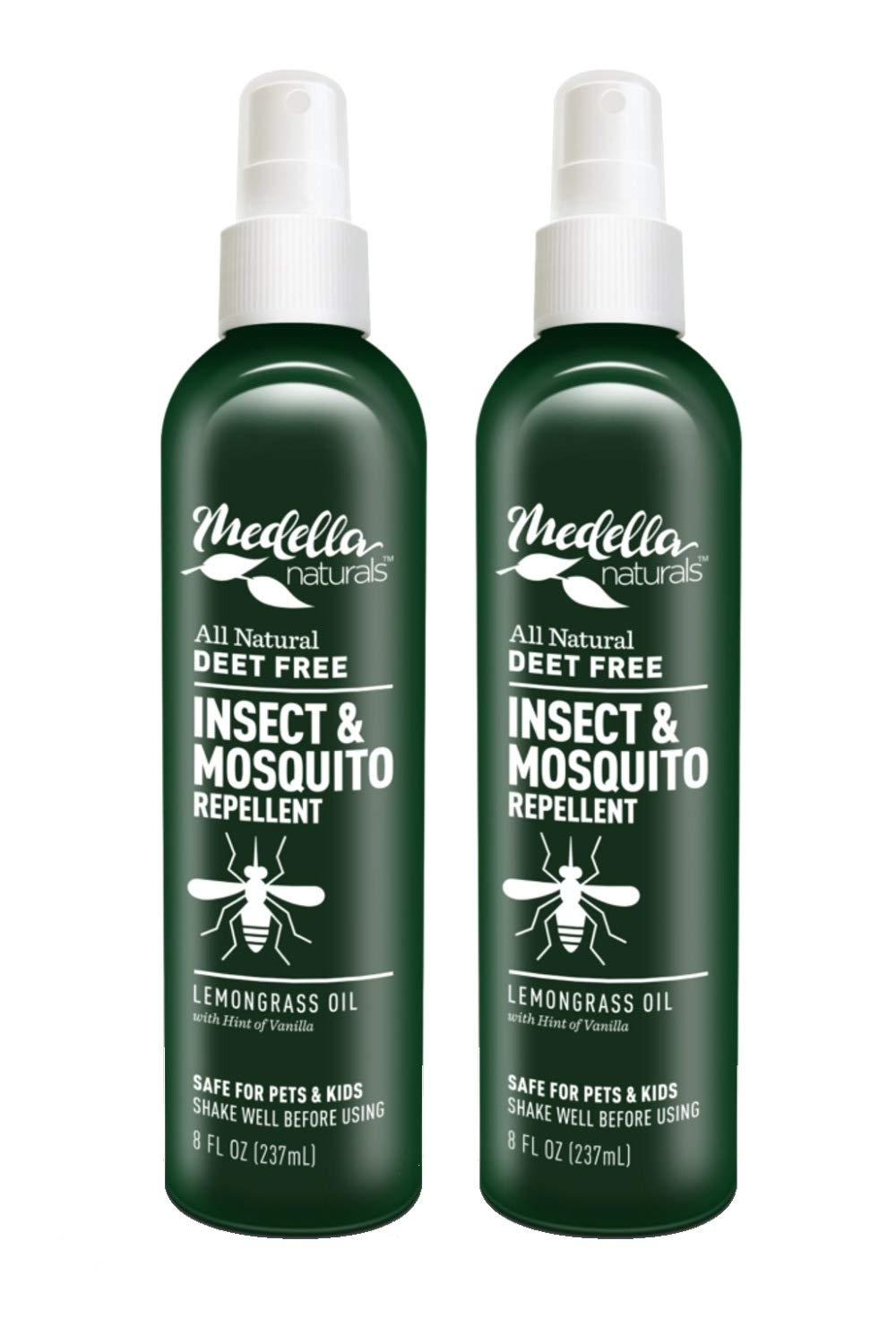 Medella Naturals All Natural Insect & Mosquito Repellent 8oz - 2 pack