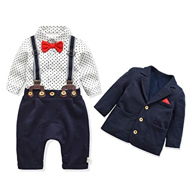 d6fb85d80 FERENYI Baby Boy's Clothes Baby's Christening Set Baby Boys Bowtie  Gentleman Clothes (0-6
