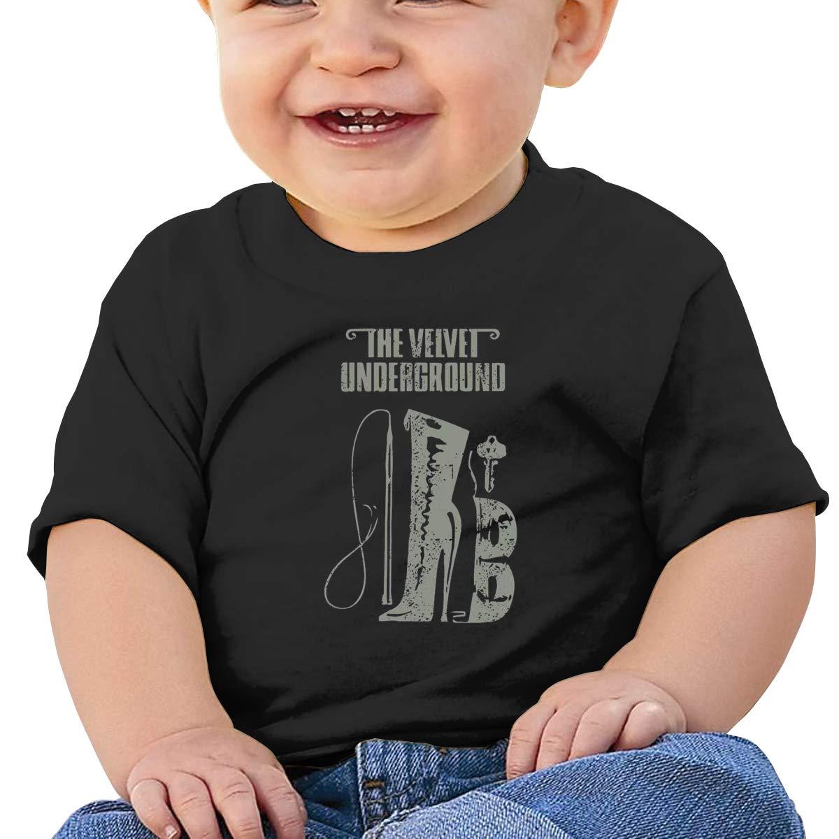 MONIKAL Unisex Infant Short Sleeve T-Shirt The Velvet Underground Toddler Kids Organic Cotton Graphic Tee Tops