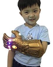 Yacn Guante de guantelete Infinito Thanos para Adulto con Guante de luz LED Avengers 4 Movie Toy