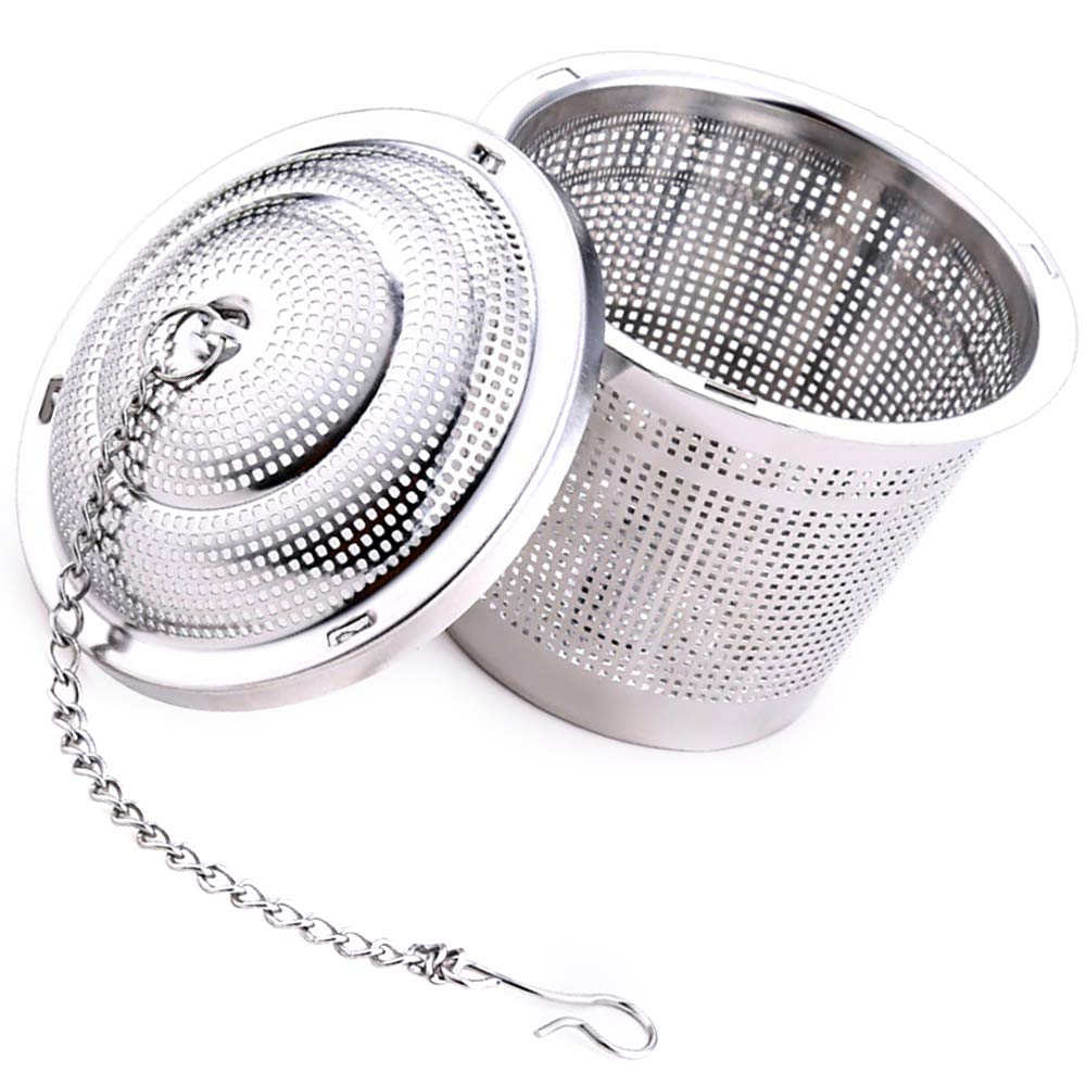 Contever Loose Leaf Tea Infuser Tea Strainer Tea Filter Ultra Fine Stainless Steel Strainer, Tea Mesh Herbal Infuser Tea Strainer(Set of 2)