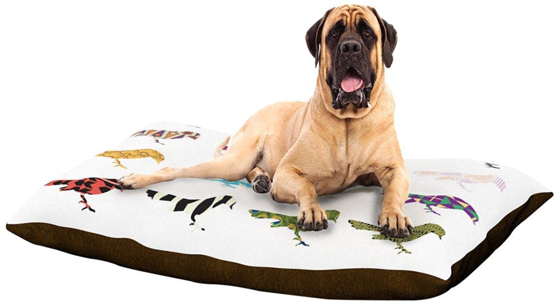 X-Large 40\ Kess InHouse Belinda Gillies Diamond Dayze  orange Pink Dog Bed, 30 by 40-Inch