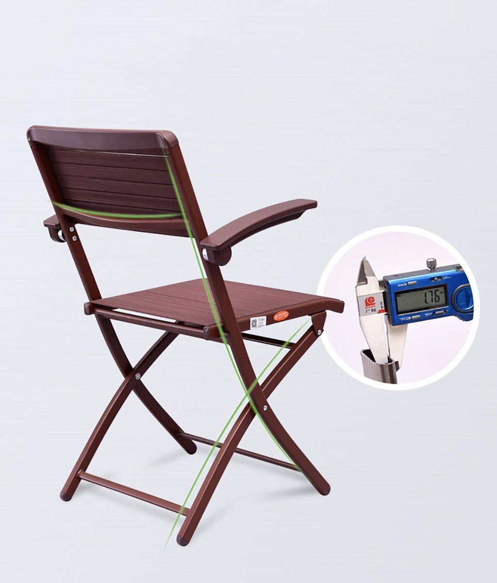 Stol hem hopfällbar dator ryggstöd stol enkel kontorsmöte fåtölj (storlek: 48 x 48 x 89 cm) (färg: A) e
