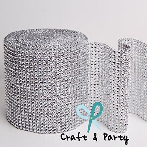 Diamond Mesh Wrap Roll Rhinestone Crystal Ribbon