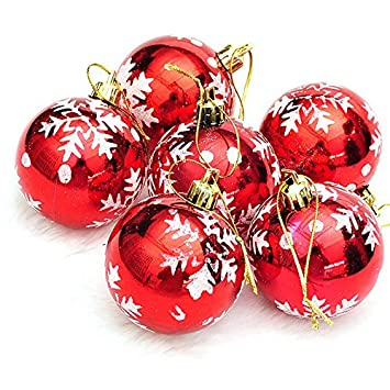 Image Unavailable. Image not available for. Color: DatingDay 6 Pcs Christmas  Tree Ornament Balls ... - Amazon.com: DatingDay 6 Pcs Christmas Tree Ornament Balls