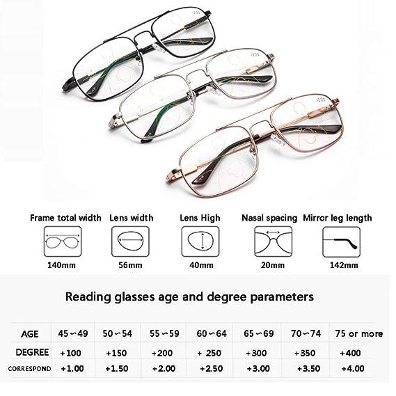 Accessories Gafas De Lectura para Hombre Y Mujer, Montura MetáLica ...