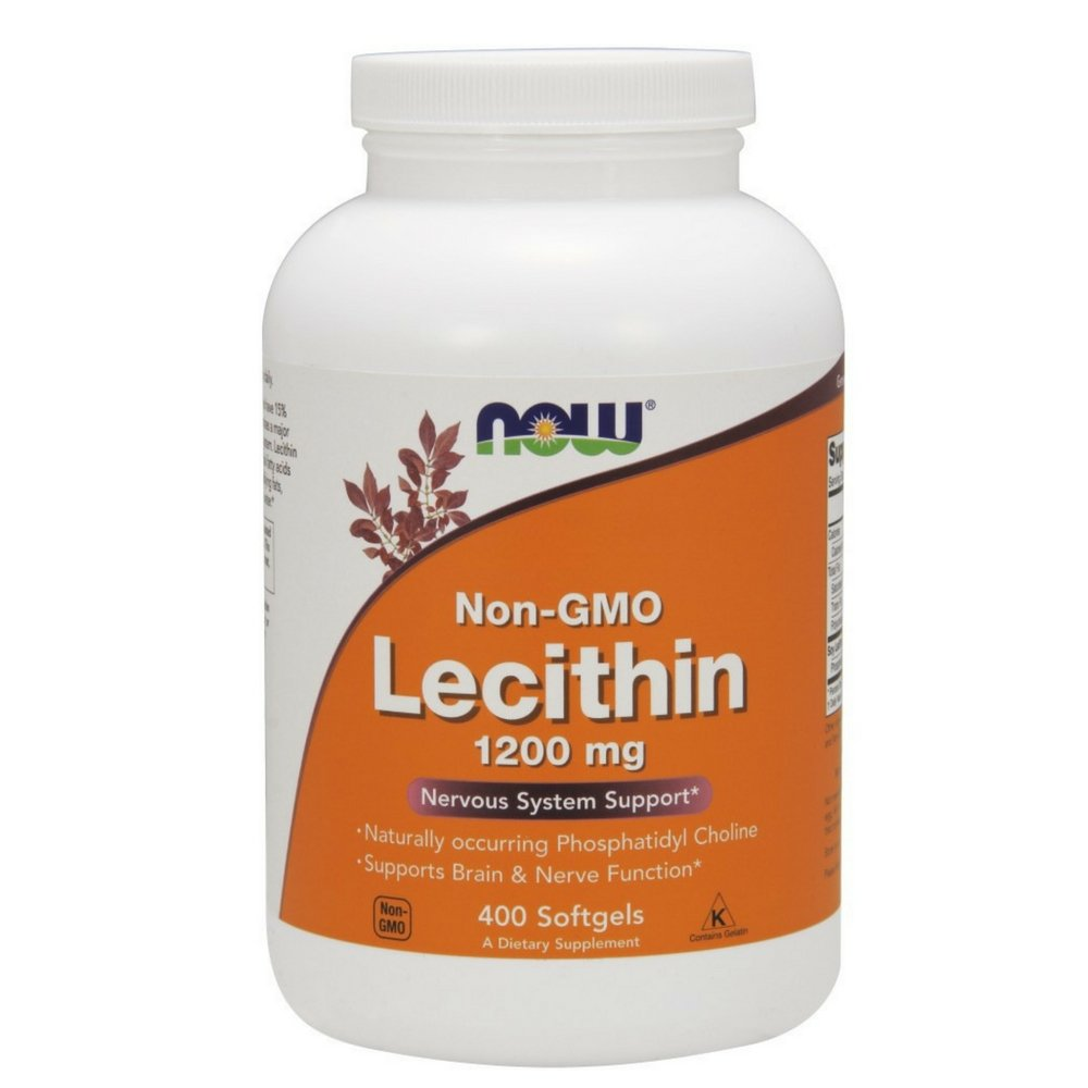Now Supplemnets, Lecithin 1200 mg with Naturally Occurring Phosphatidyl Choline, 400 Softgels