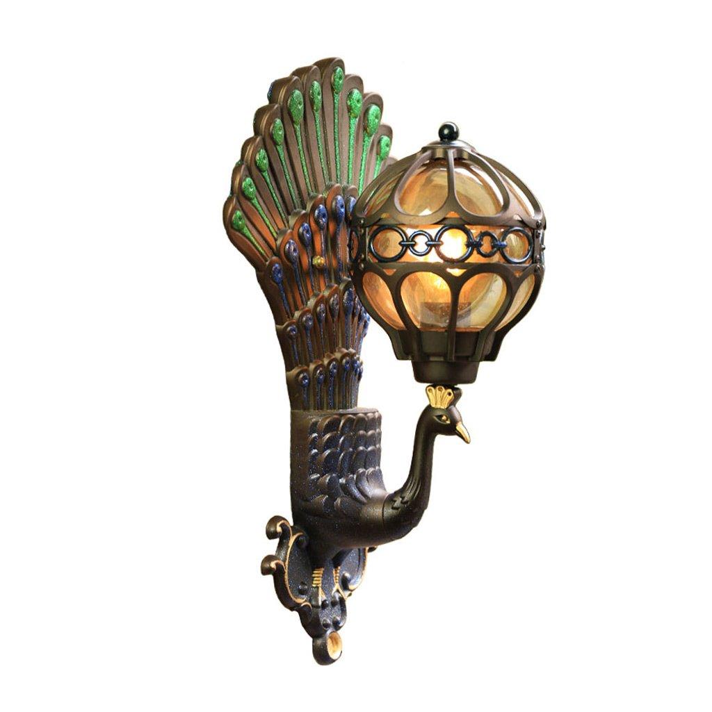 AJZGFlampada da parete Lampada da parete impermeabile europea della villa lampada da parete del balcone americano del corridoio esterno del giardino Applique