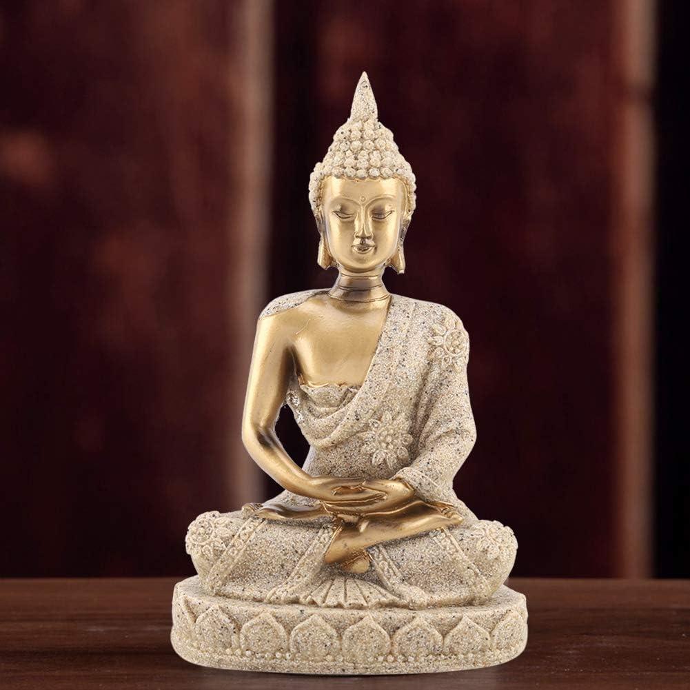 WYANG M/éditer Assis Statue De Bouddha Sculpture Figurine Artisanat pour la D/écoration De La Maison Ornement Or 01