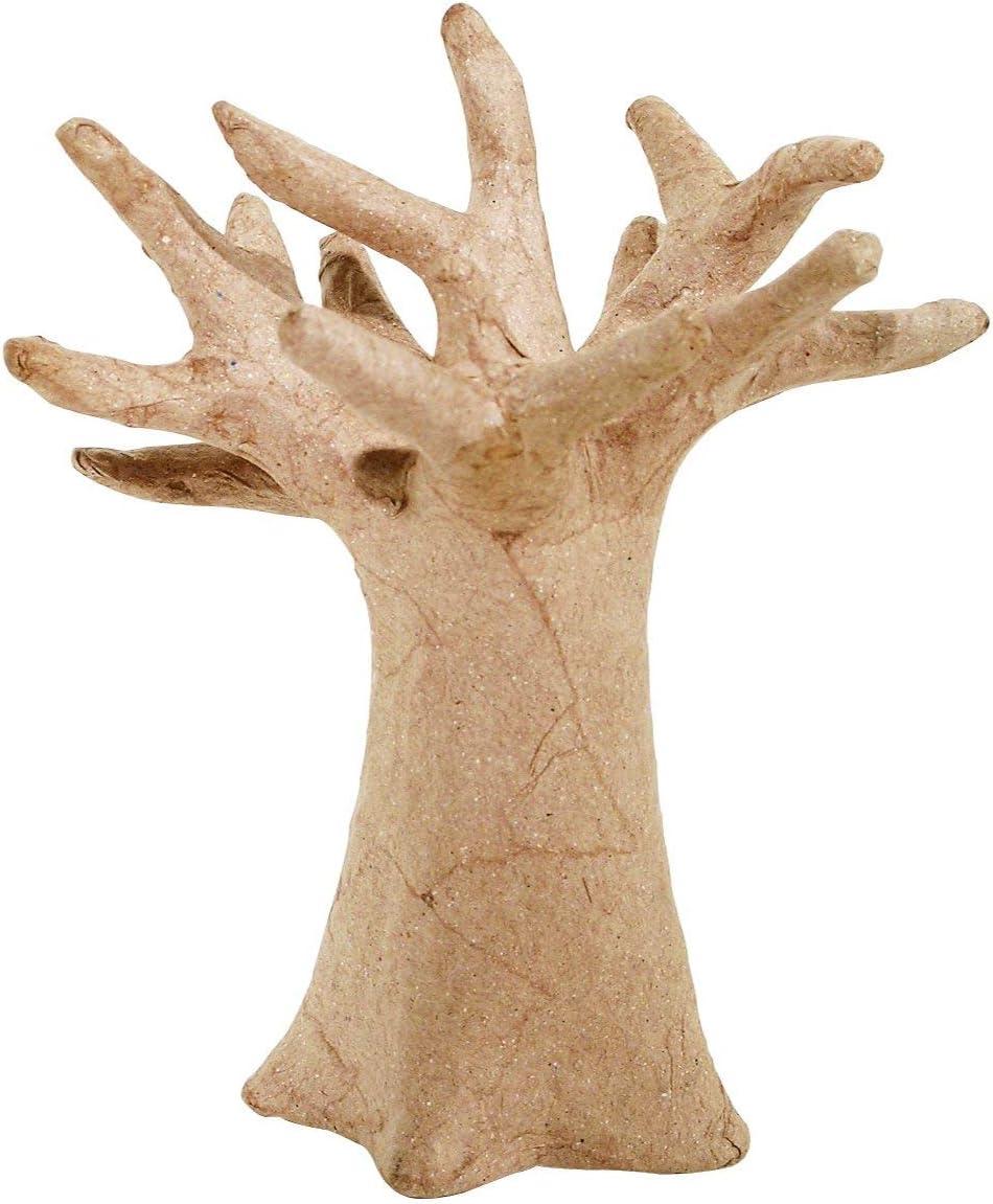 Decopatch - Árbol Decorativo (cartón Piedra), Color marrón