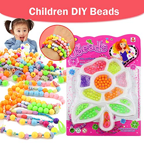 Colorful Beads Set Toy Creative DIY Jewelry Making Kit Art Crafts Snap Beads Toy from Mandy