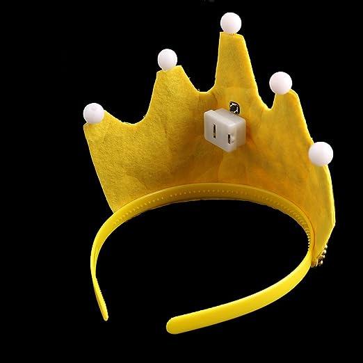 Amazon.com: eDealMax Fiesta de cumpleaños de Los hogares en Forma de Corona de Bolas de luz LED de accesorios Regalo del casquillo del Sombrero 2 PCS ...