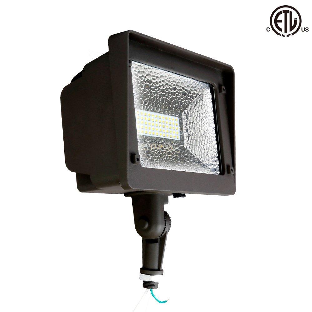 LED Floodlight, Waterproof Outdoor Lighting, 50W Outdoor Yard Light, 5000K 5500lm 100-277Vac, ETL/cETL Qualified