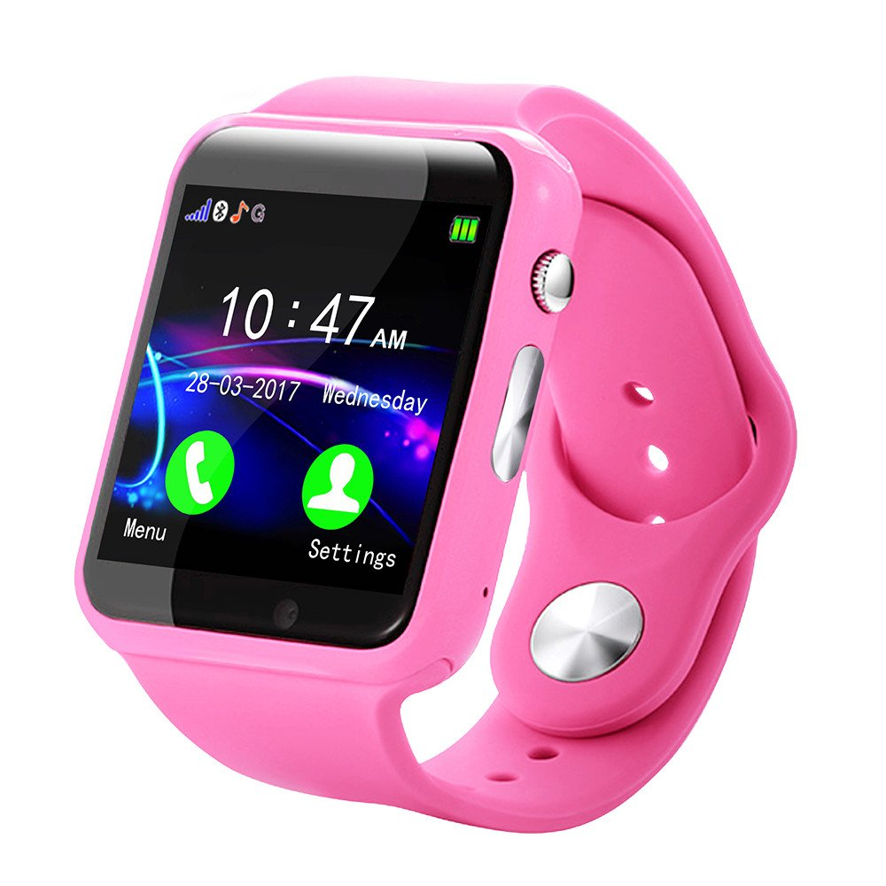 Kid Smart Watch Phone for Girls Boys with GPS Tracker IP67 Waterproof Fitness Watch Best Gift for Children (Pink) by OVERMAL_Watches (Image #1)