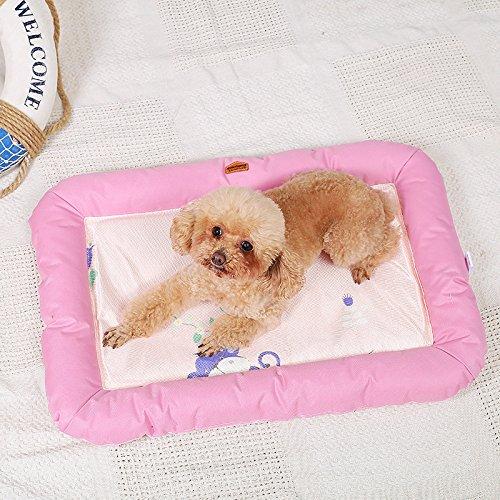 Enzhe Pet Design Incantevole Estate Pet Dog Mat Bed Dog Puppy Tappetino di Raffreddonnato Pad Cuscino per Pitbull Dog House Kennel Nest (rosa, L)